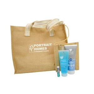 Jute Beach Bag with Sport