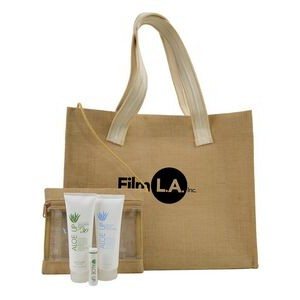 Jute Beach Bag with White Collection